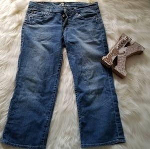7for all Mankind Capri Buttonfront Denim Jeans 31